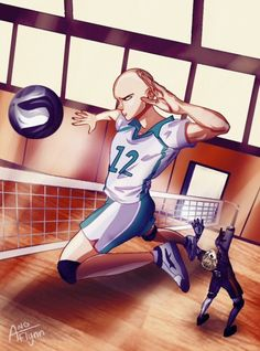 """One Punch Man Crossover Haikyuu! 