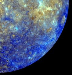 """NASA's """"Messenger"""" satellite captures Mercury's spectacular color mosaic Across The Universe, Space Photos, Space Program, Our Solar System, Milky Way, Far Away, Constellations, Cosmos, Nasa"""