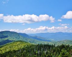 From the summit of Worcester Mountain in Worcester VT.  A southern view of Skyline ridge.