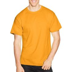 Hanes Men's Short Sleeve EcoSmart T-shirt, Size: Medium, Gold