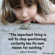 Curiosity has a reason. We love seeing how the inspires curiosity in our high school students. Quotes For Kids, Great Quotes, Inspirational Quotes, Quotes Children, Motivational Quotes, Teaching Quotes, Education Quotes, Preschool Quotes, Preschool Classroom