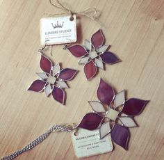 Stained Glass Flower Ornament