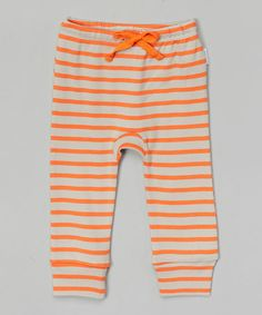 Look what I found on #zulily! Orange Stripe Organic Leggings - Infant & Toddler by Broken Tricycle #zulilyfinds