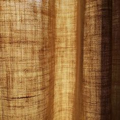 "Sturdy... in the mid eighties, an older friend gave me several pairs of linen curtains made by her mother. ""Mother"" had redecorated the house after the '38 hurricane. Two pairs of these linen curtains have hung in my home ever since. I love the golden glow through their rough texture. #tradition"