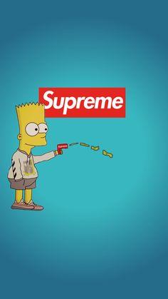 Supreme Iphone Wallpaper, Simpson Wallpaper Iphone, Cartoon Wallpaper, Superman Wallpaper, Simpsons Drawings, Simpsons Art, Bart Simpson, Sunset Wallpaper, Trendy Wallpaper