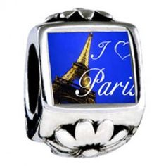 Landmark Paris Eiffel Tower Photo Flower Charms  pandora style -Need this one too!!