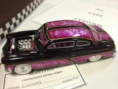 Love the paint on this model. Model Pictures, Car Pictures, Lowrider Model Cars, Hobby Cars, Candy Paint, Plastic Model Cars, Model Hobbies, Model Cars Kits, Old Models