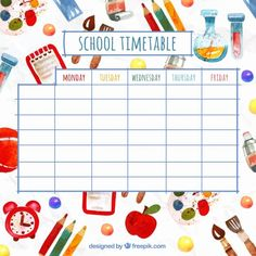 High Quality Time Table Chart Clipart How To Make Time Table Chart School Timetable Chart Time Table Ideas For Kids School Time Table Chart Class Schedule Template, Timetable Template, Schedule Design, Visual Timetable, Class Timetable, Daily Schedule Kids, School Schedule, College Schedule, Funny School