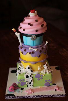 Littlest Pet Shop inspired cupcake cake
