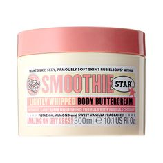 Soap & Glory Smoothie Star™ Body Buttercream - A super nourishing, pistachio, almond, and sweet vanilla scented body buttercream for irresistibly smooth and ultrasoft skin.  #Sephora