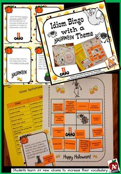 idiom bingo with a halloween theme - Who Wrote The Halloween Theme Song