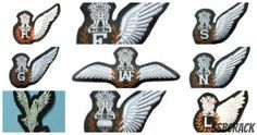 Aircrew badges commonly known as WINGS are worn by theIndian air force's officers and airmen crew on their uniforms is the symbol of qualification badge Indian Air Force, Indian Army, Badges, Aircraft, Aviation, Badge, Planes, Airplane, Airplanes