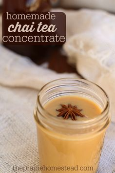 homemade chai tea concentrate - not raw but can be added to raw nondairy milks. Could use with red or herbal tea instead, maybe Douglas Fir! Tea Recipes, Real Food Recipes, Cooking Recipes, Recipies, Coffee Recipes, Brunch Recipes, Drink Recipes, Yummy Drinks, Healthy Drinks