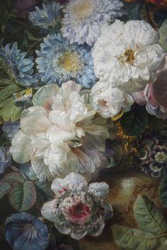 Vase de fleurs sur une table de pierre avec un nid  (detail), Cornelis van Spaendonck, 1789