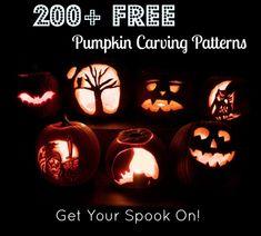 200+ Free Pumpkin Carving Patterns #Halloween