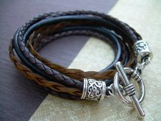 Womens Leather Bracelet Leather Bracelet by UrbanSurvivalGearUSA