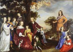 Jan Mijtens, 1652-55 - - - Portrait of Willem van den Kerckhoven and his Family