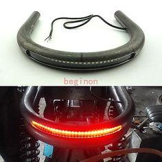 "7/8"" Tube Cafe Racer Seat Frame Hoop Brat Loop with LED Brake Turn Singal Light"