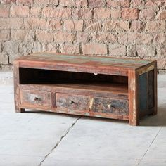 Mary Rose 3 Drawer Reclaimed Wood TV Cabinet - Modish Living Winter Sale