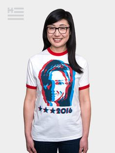 "Made for History Marc Jacobs Tee. ""My support for Hillary is grounded on our long-standing shared belief in equality. I am proud to share this t-shirt as a champion for equal rights, for the progress we have made and for the hope of continued progress with Hillary as president."" —Marc Jacobs"