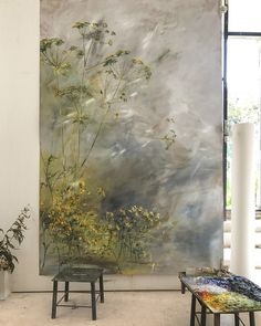 Öl auf Papier - Claire BASLER Oil Painting oil painting on paper Landscape Art, Landscape Paintings, Oil Painting On Paper, Watercolor Sunflower, Abstract Canvas Art, Painting Abstract, Winter Art, Flower Art, Claire Basler