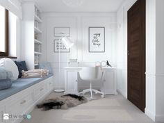 Niebiańsko! Pokój dziecięcy - Mały pokój dziecka dla dziewczynki dla ucznia dla nastolatka, styl klasyczny - zdjęcie od LUDWEE Pracownia Architektury Wnętrz