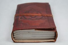 Handmade Leather Book of Shadows Blank Journal, Diary Antique Style Wicca 5x3.5