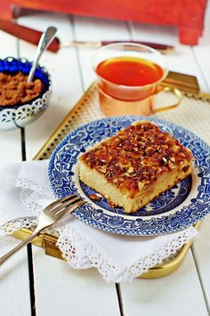 egg white cake with almonds and brown sugar