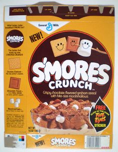 Smores Crunch cereal, I bought about 20 boxes when this was discontinued, loved it!