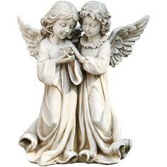 "12.25""  Angels with Bird Outdoor Statue ($111) ❤ liked on Polyvore featuring home, outdoors, outdoor decor, bird garden decor, outside statues, angel statuary, outdoor statuary and outside garden decor"