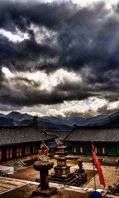 Light and Dark follow each other.  #Haeinsa Temple, Korea