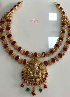 Ruby Necklace Designs, Jewelry Design Earrings, Gold Jewellery Design, Diamond Jewellery, Beaded Jewelry, Diamond Earrings, Jewlery, Gold Wedding Jewelry, Gold Jewelry Simple