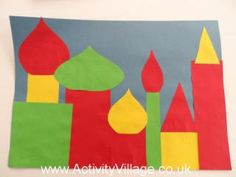 russian crafts for kids | Russian Cityscape Collage