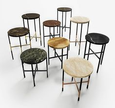 The Creative Marketplace for Design Furniture Styles, Table Furniture, Black Side Table, Table Designs, Industrial Design, Tables, Relax, Shelves, Coffee