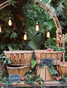 Fresh apple bar -- fun for a Fall wedding!