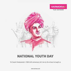 On Swami Vivekananda's birth anniversary let's live by the virtues he taught us National Youth Day. Youth Day, National Days, Swami Vivekananda, Faucet, Birth, Tiles, Anniversary, Let It Be, Teaching