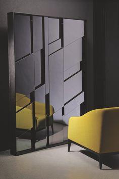 Black Rain Mirror Contemporary, Metal, Mirror, Mirror by Carlyle Collective Decor Interior Design, Furniture Design, Interior Decorating, Ceiling Design, Wall Design, Wall Mirror Design, Tinted Mirror, Spiegel Design, Mirror Panels