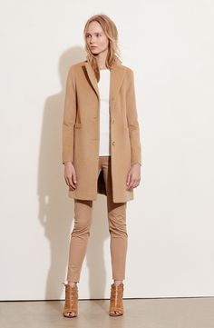 Wool Blend Reefer Coat (Regular & Petite)