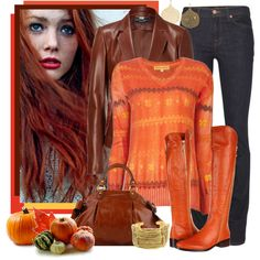 """those orange boots..."" by allib4sho on Polyvore"