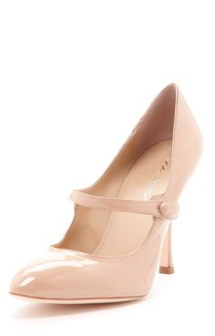 Nude Mary Jane Pumps / Via Spiga