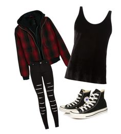 """Untitled #82"" by dark-shadowx ❤ liked on Polyvore featuring R13, Ms MIN and Converse"