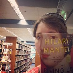 Book Face Friday at the Whitworth Library with Bring up the Bodies by Hilary Mantel #bookfacefriday #bookface
