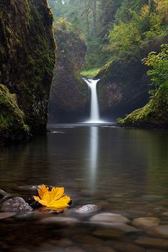 Punchbowl Falls, Columbia River Gorge, Oregon  gorgeous waterfall.