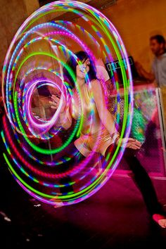 lighted hoops!... there's all kinds of hoops on here but there is 1 that has a video with some really nice moves
