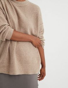 Aerie Waffle Oversized Crew Sweater Cardigan Sweaters For Women, Cozy Sweaters, Cardigans For Women, Warm Leggings, Cozy Fashion, Mens Outfitters, Clothes For Women, How To Wear, Waffle