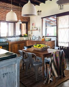 This gorgeous space is located in a tiny town in Argentina. See more via the link in our bio. (Image: Home: Earthy Kitchen, Kitchen Dining, Tiny House Plans, Apartment Therapy, Home Kitchens, Home Furniture, Sweet Home, House Design, Home Decor