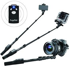 Fugetek FT568 Professional Selfie Stick with Bluetooth Remote for Apple Android Gopro  Digital Cameras 49Inch Black *** Be sure to check out this awesome product. (This is an affiliate link)