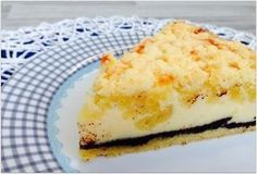 Mohn-Käsekuchen mit Streuseln Rezept: Teig,Margarine,Weizenmehl,Zucker,Mohnfüllung,gemahlen,Milch,Butter,Zucker,Käseguss,L,Magerquark,Zucker,Vanillepuddingpulver