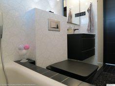 kylpyhuone,laatat,wc-istuin,mustavalkoinen,wc,kylpyamme