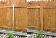got metal fence posts diy garden project cure metal fence posts garden projects and diy Pallet Fence, Diy Fence, Backyard Fences, Garden Fencing, Fence Ideas, Fence Gate, Diy Pallet, Fancy Fence, Pallet Planters